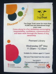 Fun 'Dogs Trust' Workshop at Pennard Library 29May2013