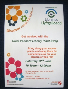 Great Pennard Library Plant Swap at Pennard Library 22June2013