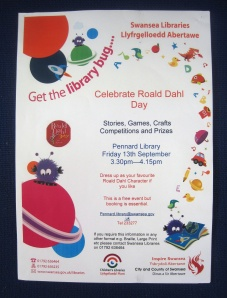 Celebrate Roald Dahl Day at Pennard Library on 13September2013