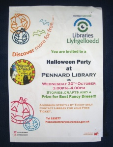 Halloween Party at Pennard Library 30Oct2013