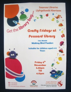Crafty Fridays at Pennard Library 8Nov2013