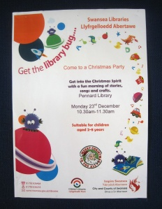 Come to a Christmas Party at Pennard Library 23Dec2013